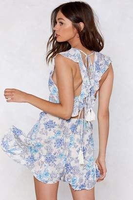 4cf52846f6f7 Nasty Gal You Grow to My Head Floral Romper