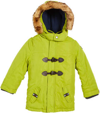 Mayoral Hooded Toggle-Front Parka with Faux-Fur Trim Size 12-36 months