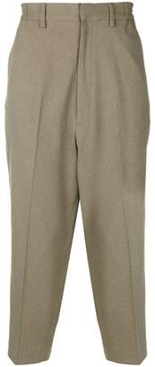 N. Hoolywood cropped wide-leg trousers