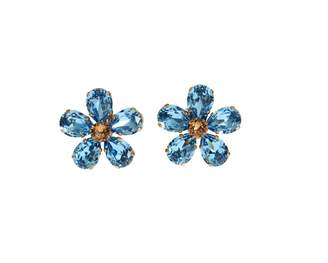 Dolce & Gabbana Blue Crystal Earrings