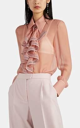 Alberta Ferretti Women's Sheer Silk Chiffon Blouse - Pink