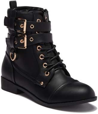 Top Moda Rachel Combat Boot