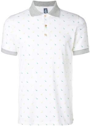 fe-fe dinosaur print polo shirt