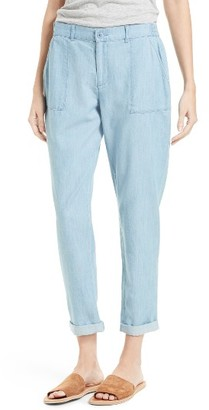 Women's Soft Joie Mendaline Chambray Pants $178 thestylecure.com
