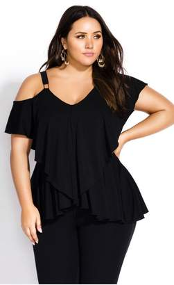 City Chic Citychic Leisure Lady Top - black