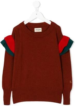 Bobo Choses knitted ruffle jumper
