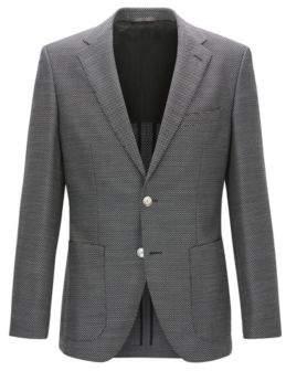 BOSS Hugo Basketweave Wool Sport Coat, Regular Fit Janson 36R Open Grey