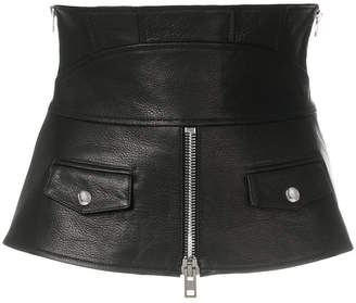 Alexander Wang zipped leather corset