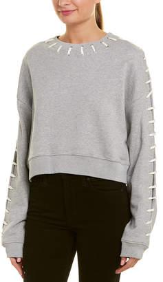 Jonathan Simkhai Loopback Whip Stitch Sweatshirt