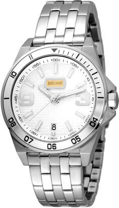 Just Cavalli 40mm Men's Stainless Steel Chronograph Watch, Silver