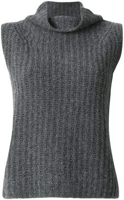 Vince roll neck sleeveless jumper