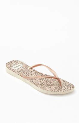 Havaianas Leopard Print Slim Sandals