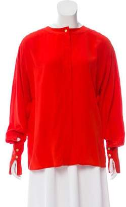 Chanel Pleated Vintage Blouse