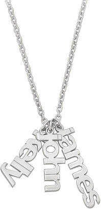 FINE JEWELRY Personalized Three Name Charms Pendant Necklace