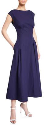 Escada Sleeveless Cotton Fit & Flare Dress