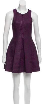 Tibi Jacquard Printed Dress