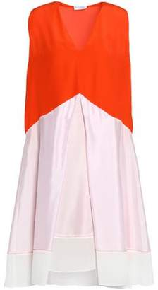 Vionnet Woman Layered Color-block Silk Top Bright Orange Size 40 Vionnet DboJM