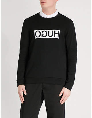 HUGO Reverse Logo cotton-jersey sweatshirt
