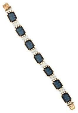 Lucien Piccard 14K Cameo Glass & Pearl Link Bracelet