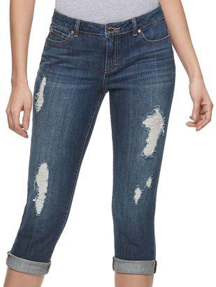 Women's Jennifer Lopez Ripped Capri Jeans $50 thestylecure.com