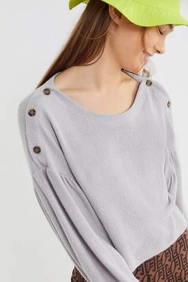 Out From Under Bethany Button Shoulder Cropped Top
