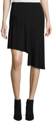 Thierry Mugler Asymmetric Pleated Skirt, Black $1,125 thestylecure.com