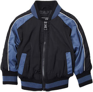 Urban Republic Infant Boys) Striped Sides Bomber Jacket