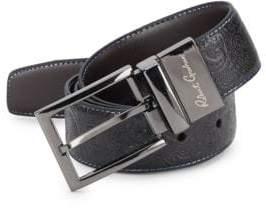 Robert Graham Garrison Paisley-Embossed Leather Belt