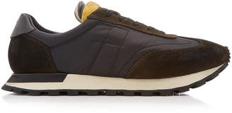 Maison Margiela Replica Low-Top Suede-Paneled Running Sneakers