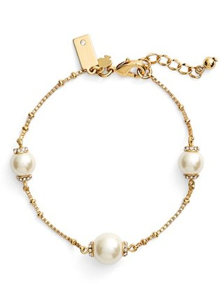 Women's Kate Spade New York 'Pearls Of Wisdom' Faux Pearl Bracelet $58 thestylecure.com