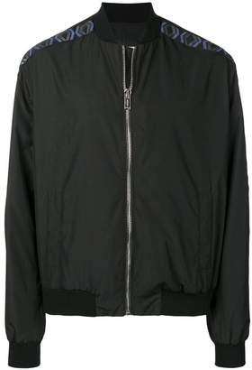 Les Hommes printed logo bomber jacket