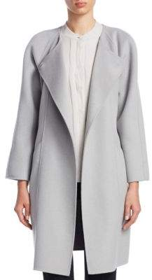 Emporio Armani Roundneck Wool-Blend Coat
