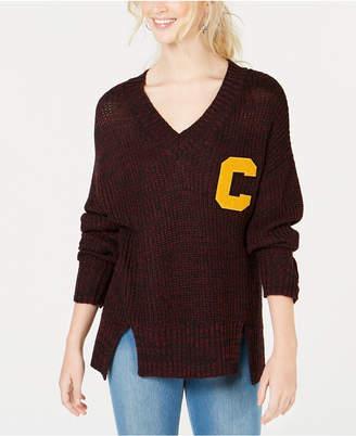 Ultra Flirt by Ikeddi Juniors' Letter-Patch Varsity Sweater