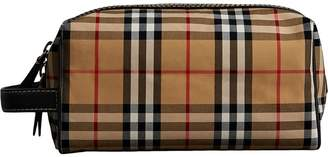 Burberry Vintage Check and Leather Pouch