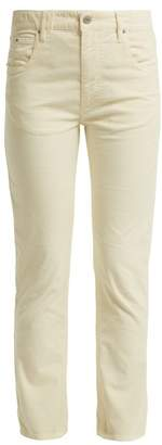 Etoile Isabel Marant Aliff Cotton Blend Girlfriend Trousers - Womens - Cream
