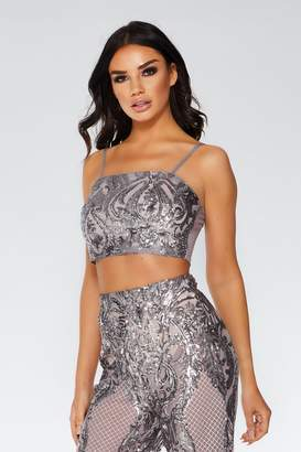 b44318717430b Silver Crop Top - ShopStyle UK