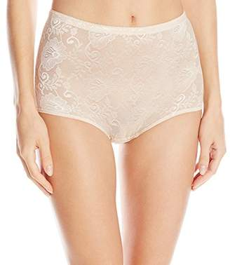 Joan Vass Women's Mesh Panty with Removablebuttock Pads