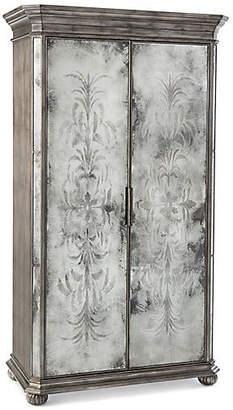 John-Richard Collection John Richard Exeter 2-Door Cabinet - Silver/Mirrored