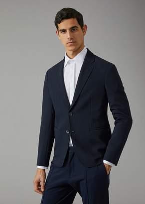 Giorgio Armani Soft Jacket In Ottoman