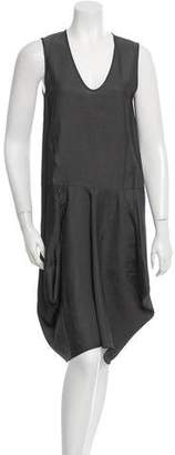 Zero Maria Cornejo Sima Drape Sleeveless Dress