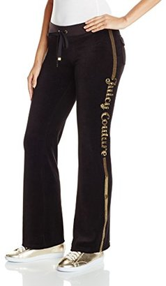 Juicy Couture Black Label Women's Logo Juicy Sequins Vlr Bootcut Pant $148 thestylecure.com
