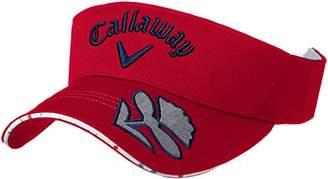 Callaway (キャロウェイ) - (キャロウェイ アパレル) Callaway Apparel [ レディース] サンバイザー (サイズ調整) / 241-8184800 / 帽子 ゴルフ 241-8184800 100 100_レッド FR