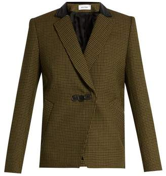 Courreges (クレージュ) - COURRÈGES Hound's-tooth notch-lapel wool jacket