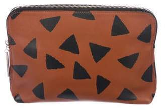 3.1 Phillip Lim Printed Leather Zip Pouch