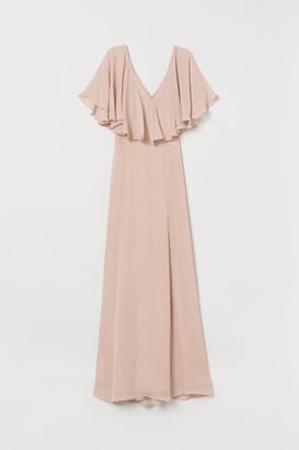 H&M Long Chiffon Dress - Beige