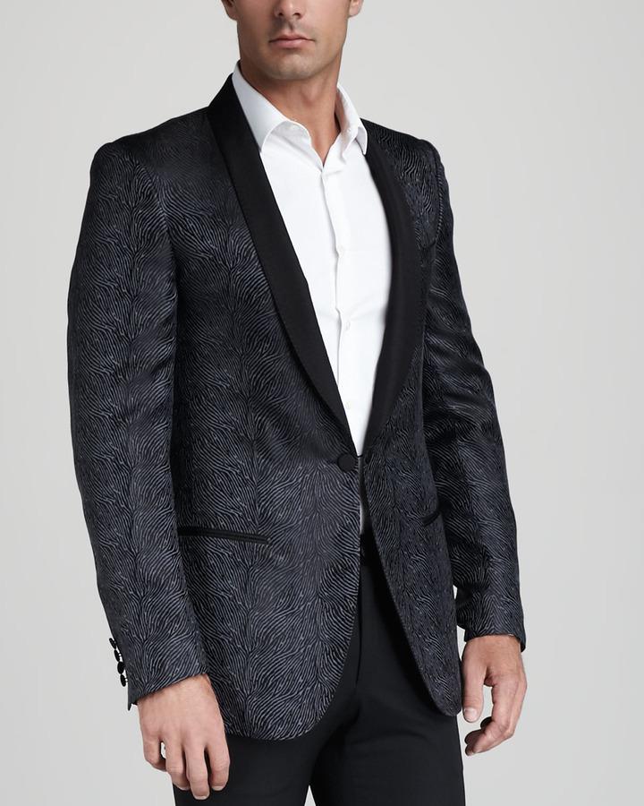 Lanvin Patterned Silk Evening Jacket