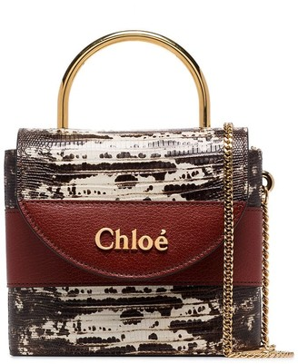 Chloé small Aby lizard-effect tote bag