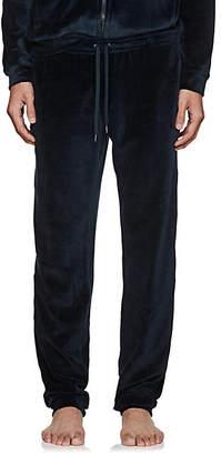 Derek Rose Men's Nico Cotton-Blend Velour Pants - Navy