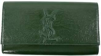 Saint Laurent Belle de Jour patent leather clutch bag