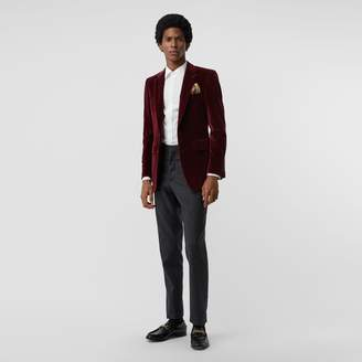 Burberry Classic Fit Velvet Tailored Jacket
